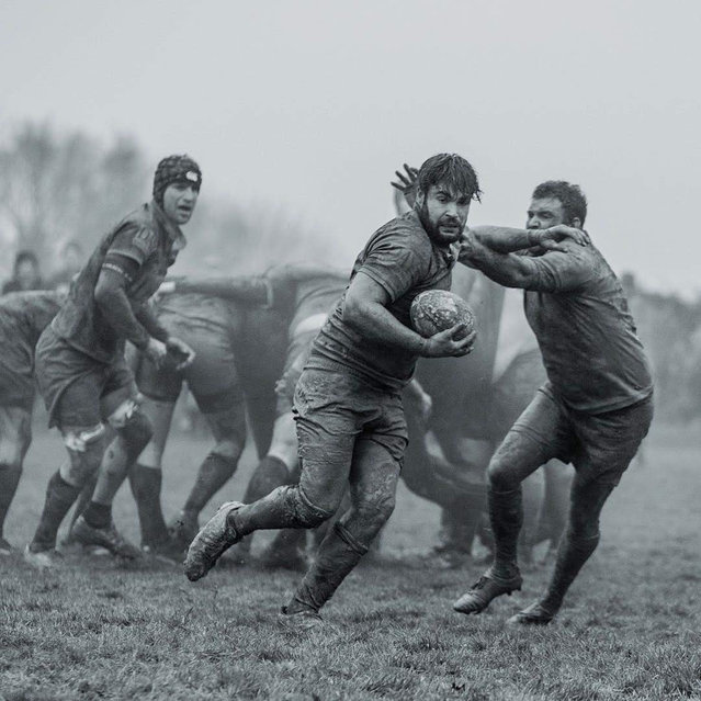 Match day … with mud. Rugby match in Newick. Sports shortlist. (Photo by Maurice Webster/@mww2108)