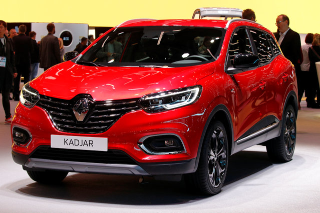 The Renault Kadjar car is on display at the Auto show in Paris, France, Tuesday, October 2, 2018, 2018. (Photo by Regis Duvignau/Reuters)