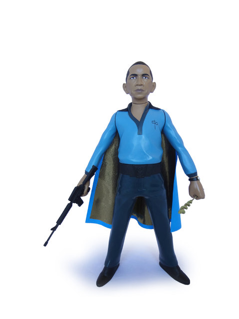 Barack Obama as Lando Calrissian. (Photo by Mike Leavitt/Rex USA)