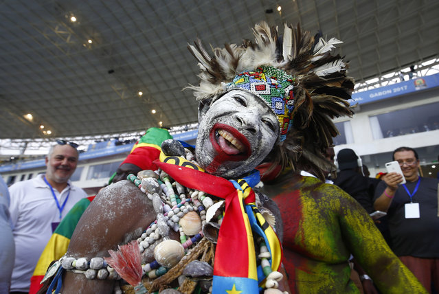 Football Soccer, African Cup of Nations, Final, Egypt vs Cameroon, Stade d'Angondjé, Libreville, Gabon on February 5, 2017.Cameroon fan before the match. (Photo by Amr Abdallah Dalsh/Reuters/Livepic)