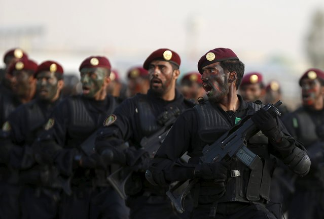 Members of Saudi special forces march during a graduation ceremony held in Riyadh May 19, 2015. (Photo by Faisal Al Nasser/Reuters)