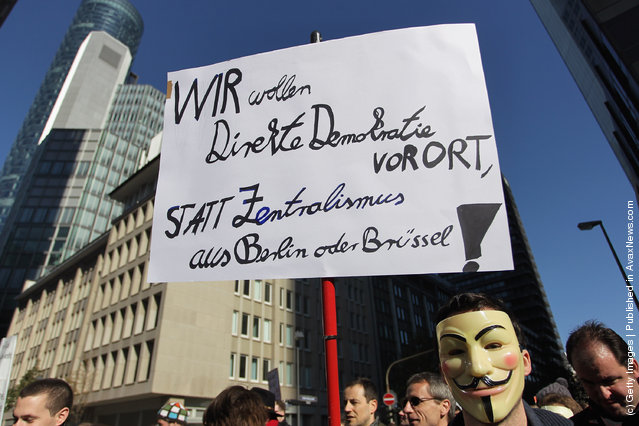 Wall Street Protests In Germany