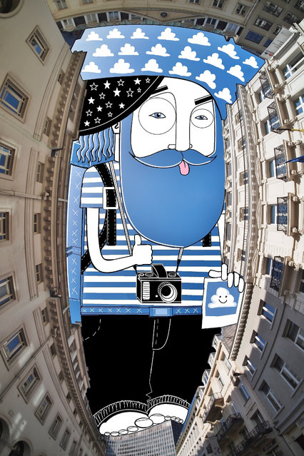 New Illustrations In The Sky Between Buildings By Thomas Lamadieu