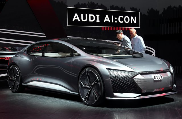 An Audi Aicon is pictured at the 2019 Frankfurt Motor Show (IAA) in Frankfurt, Germany, September 10, 2019. (Photo by Ralph Orlowski/Reuters)