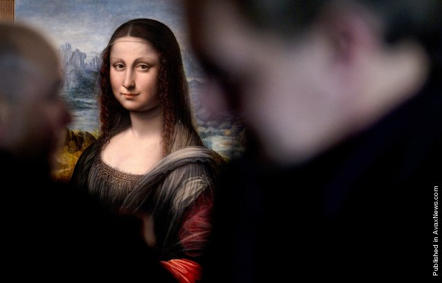 An authenticated contemporary copy of Leonardo da Vinci's Mona Lisa on display at the Prado Museum