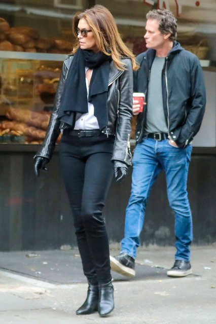 Cindy Crawford and Rande Gerber out and about in New York, USA on November 27, 2019. (Photo by SIPA Press/Rex Features/Shutterstock)
