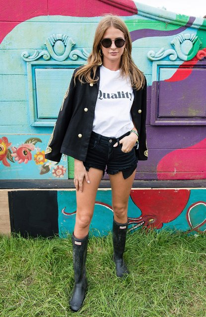 Millie Mackintosh attends on day 2 of the Glastonbury Festival 2017 at Worthy Farm, Pilton on June 23, 2017 in Glastonbury, England. (Photo by Harry Durrant/Getty Images)