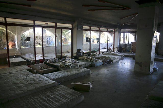 Mattresses used by migrants are seen at the lobby of a deserted hotel on the Greek island of Kos, August 13, 2015. (Photo by Alkis Konstantinidis/Reuters)