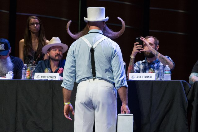 Adam Cazda at the 2017 Remington Beard Boss World Beard & Moustache Championships held at the Long Center for the Performing Arts on September 3, 2017 in Austin, Texas. (Photo by Suzanne Cordeiro/AFP Photo)