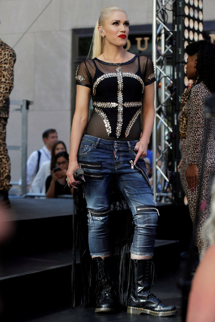 """Singer Gwen Stefani appears on NBC's """"Today"""" show Summer Concert Series in New York City, U.S., July 15, 2016. (Photo by Brendan McDermid/Reuters)"""