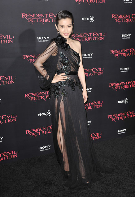 "Actress Li Bing Bing attends the Los Angeles Premiere Of Screen Gems' ""Resident Evil: Retribution"" at the Regal Cinemas L.A. Live on September 12, 2012 in Los Angeles, California. (Photo by Frederick M. Brown)"