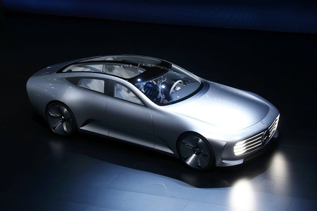 Mercedes-Benz Concept IAA car is presented during the media day at the Frankfurt Motor Show (IAA) in Frankfurt, Germany, September 15, 2015. (Photo by Ralph Orlowski/Reuters)