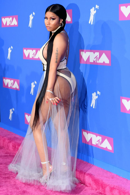 Trinidadian-American rapper Nicki Minaj attends the 2018 MTV Video Music Awards at Radio City Music Hall on August 20, 2018 in New York City. (Photo by Jamie McCarthy/Getty Images)