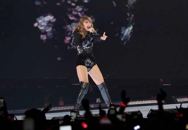 Taylor Swift performs onstage during the Reputation Stadium Tour at the Rose Bowl on Friday, May 18, 2018, in Pasadena, Calif. (Photo by Willy Sanjuan/Invision/AP Photo)