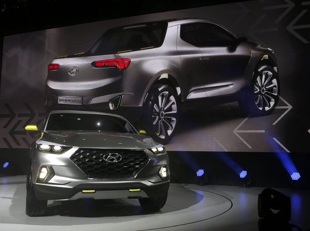 The Hyundai Santa Cruz crossover concept truck is displayed during the first press preview day of the North American International Auto Show in Detroit, Michigan January 12, 2015. (Photo by Rebecca Cook/Reuters)
