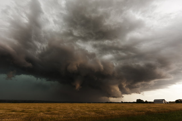 A storm forms in El Reno, Oklahoma in 2013. (Photo by Camille Seaman/Caters News)