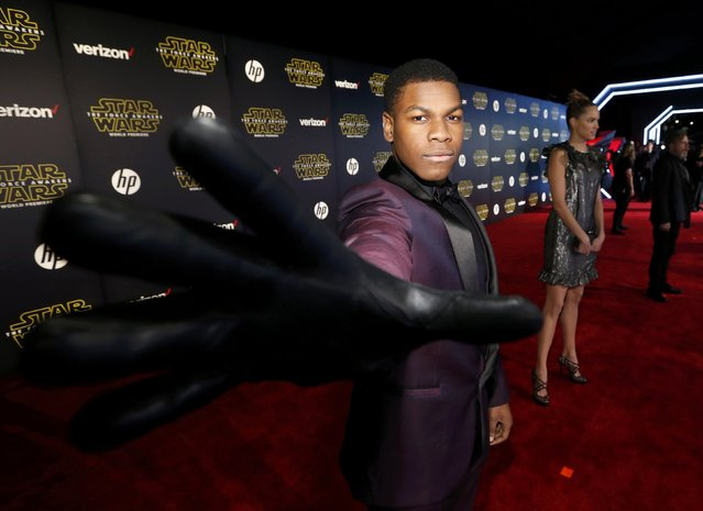 "Actor John Boyega arrives at the premiere of ""Star Wars: The Force Awakens"" in Hollywood, California December 14, 2015. (Photo by Mario Anzuoni/Reuters)"