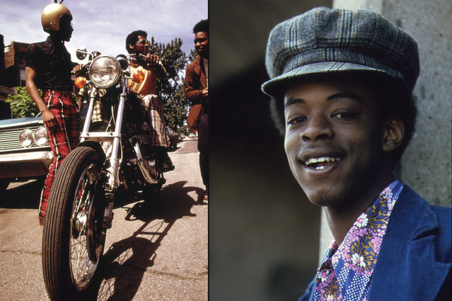 Left: Residents of Chicago's West Side check out a motorcycle, June 1973. Right: High school age student at the Robert Taylor Homes, May 1973. (Photo by John H. White/NARA via The Atlantic)