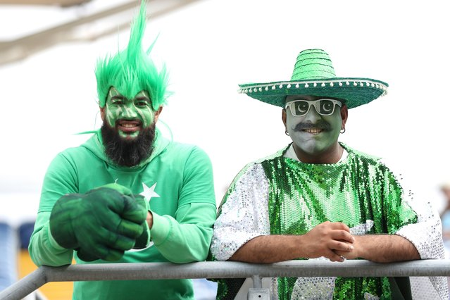 Pakistan fans during the first one day international match at the Sophia Gardens, Cardiff on Thursday, July 8, 2021. (Photo by Bradley Collyer/PA Images via Getty Images)