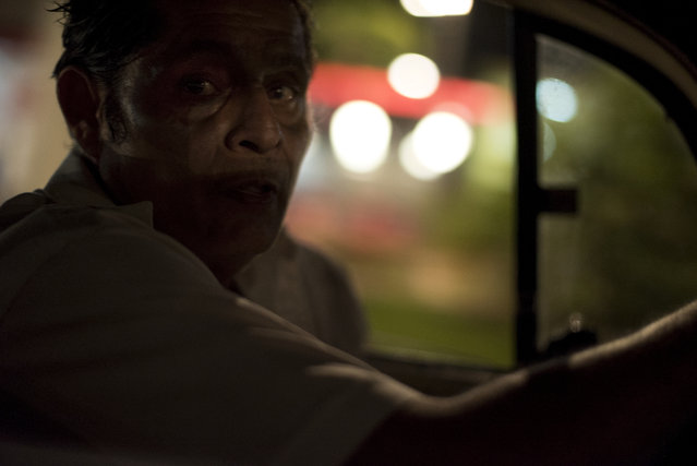 A taxi driver navigates Acapulco's crowded streets on April 1, 2015 in Acapulco, Mexico. (Photo by Jonathan Levinson/The Washington Post)