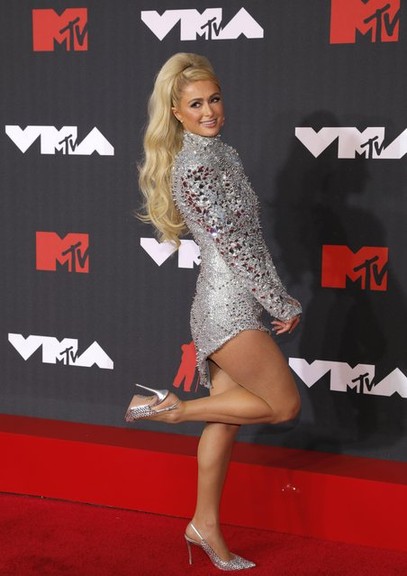 Paris Hilton attends the 2021 MTV Video Music Awards at Barclays Center on September 12, 2021 in the Brooklyn borough of New York City. (Photo by Andrew Kelly/Reuters)