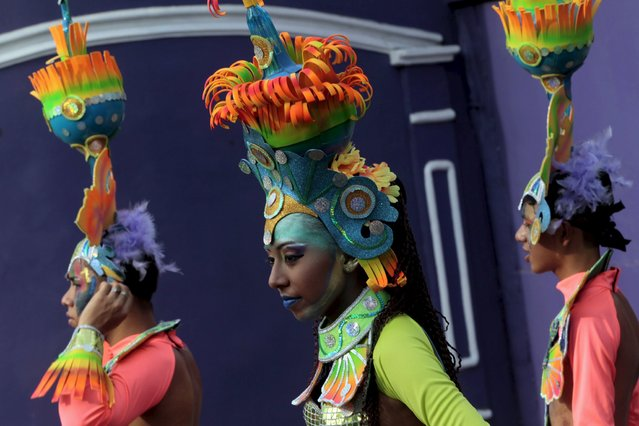 "Revellers take part in a parade during an annual carnival called ""Alegria por la Vida"" (Joy for life) in Managua April 25, 2015. (Photo by Oswaldo Rivas/Reuters)"