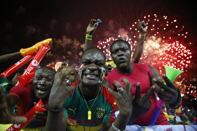 Football Soccer, African Cup of Nations, Final, Egypt vs Cameroon, Stade d'Angondjé, Libreville, Gabon on February 5, 2017. Cameroon fans before the match. (Photo by Mike Hutchings/Reuters)