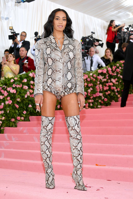 Solange Knowles attends The 2019 Met Gala Celebrating Camp: Notes on Fashion at Metropolitan Museum of Art on May 06, 2019 in New York City. (Photo by Dia Dipasupil/FilmMagic)