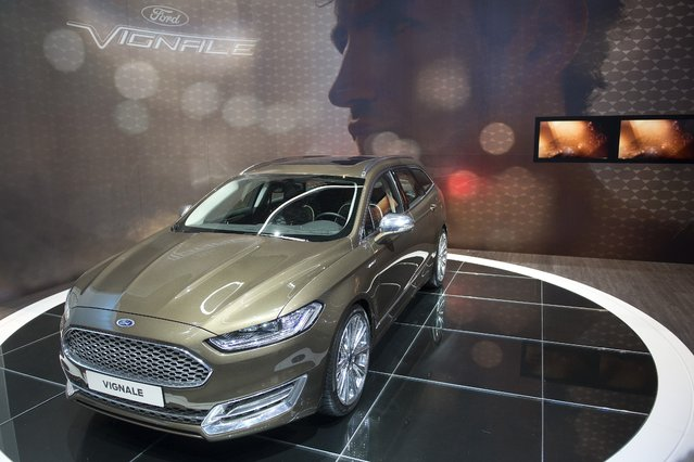 The New Concept Car Ford Vignale is  on display  at the 84.  Geneva International Motor Show in Geneva, Switzerland, Tuesday, March 4, 2014.  (Photo by Sandro Campardo/AP Photo/Keystone)