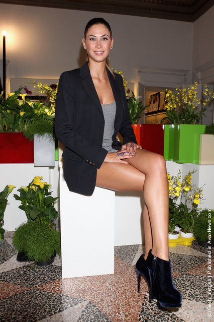 Melissa Satta attends the Giuseppe Zanotti Design Spring/Summer 2012 collection press preview as part Milan Womenswear Fashion Week