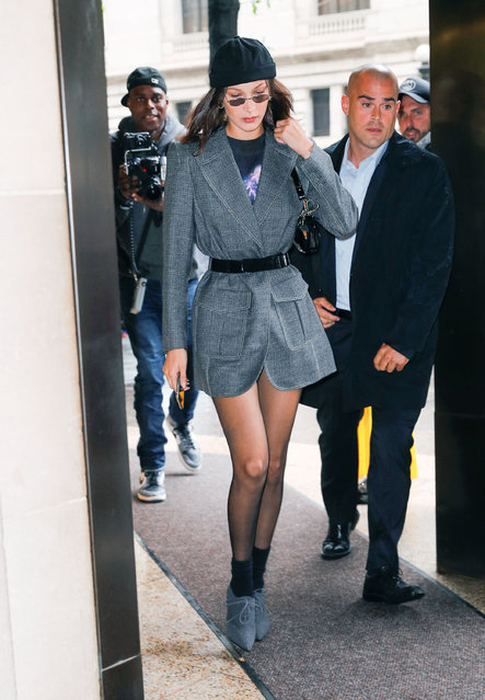 Bella Hadid is seen on September 10, 2018 in New York City. (Photo by Gotham/GC Images)