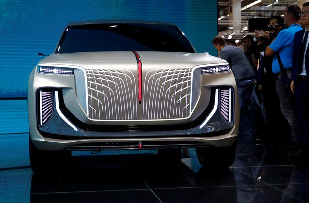 Hongqi SUV is pictured at the 2019 Frankfurt Motor Show (IAA) in Frankfurt, Germany, September 10, 2019. (Photo by Wolfgang Rattay/Reuters)