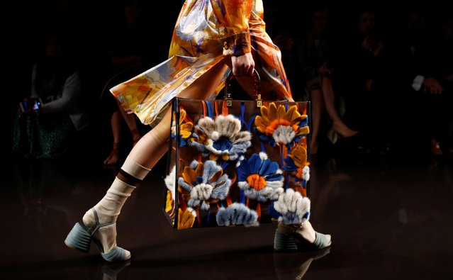 A model presents a creation from the Emporio Armani Spring/Summer 2020 collection during fashion week in Milan, Italy, September 19, 2019. (Photo by Alessandro Garofalo/Reuters)