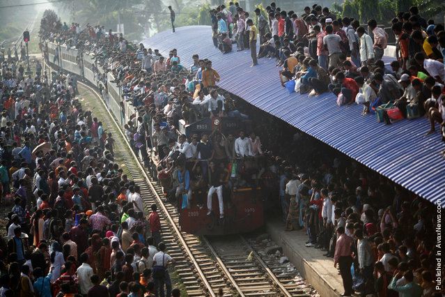 Andrew Biraj, a Reuters photographer based in Bangladesh, has won the 3rd Prize Daily Life Single category with this picture of an overcrowded train approaching a station in Dhaka November 16, 2010. The prize-winning entries of the World Press Photo Contest 2010, the world's largest annual press photography contest, were announced February 11, 2011