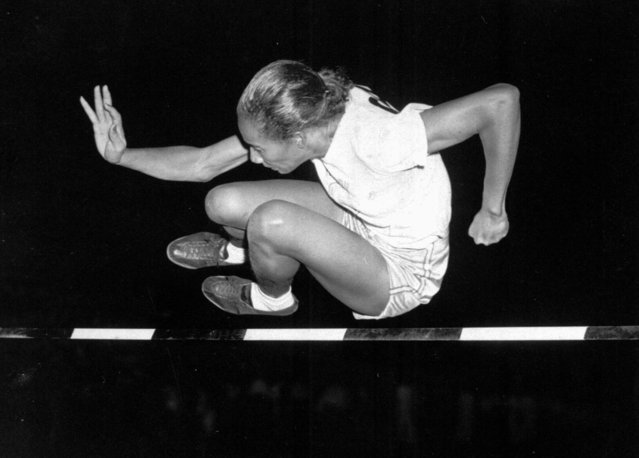 Alice Coachman of Albany, Ga., clears the bar at five feet to win the running high jump in Women's National Track Meet in Grand Rapids July 6, 1948. (Photo by AP Photo)