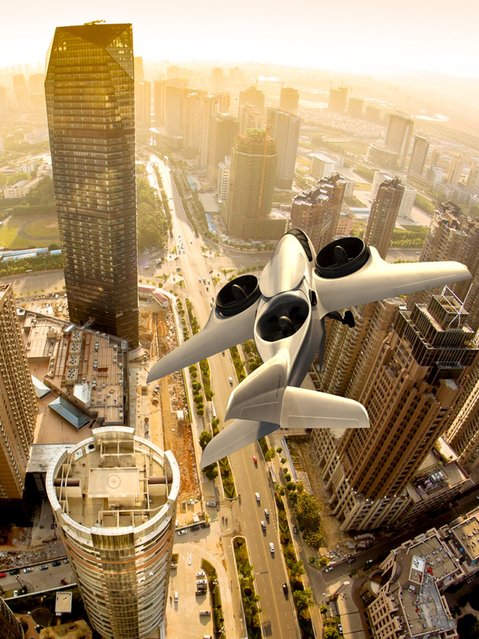 An artist rendering shows a TriFan 600 aircraft with the ability to both takeoff and land vertically, in this image released by XTI Aircraft Company on August 25, 2015. (Photo by Reuters/XTI Aircraft Company)