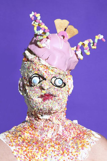Ice cream head. (Photo by James Ostrer/Caters News)