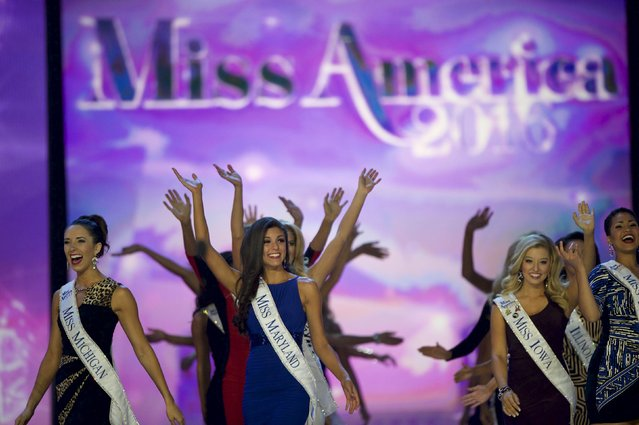Miss America contestants compete during the first night of preliminaries of the Miss America Pageant at Boardwalk Hall in Atlantic City, New Jersey, September 8, 2015. (Photo by Mark Makela/Reuters)