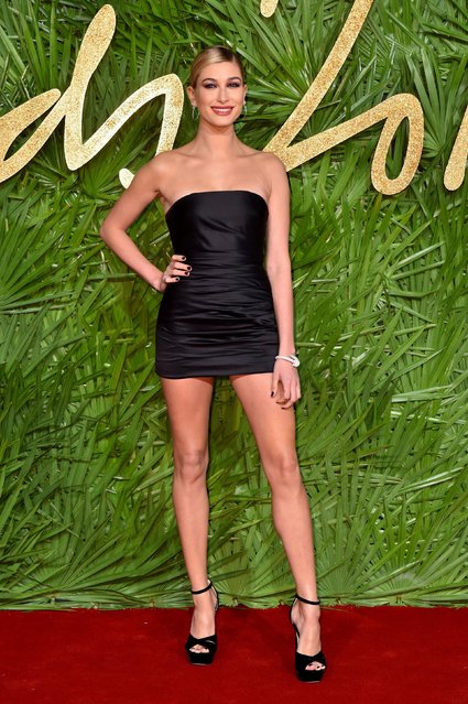 Hailey Baldwin attends The Fashion Awards 2017 in partnership with Swarovski at Royal Albert Hall on December 4, 2017 in London, England. (Photo by PA Wire)