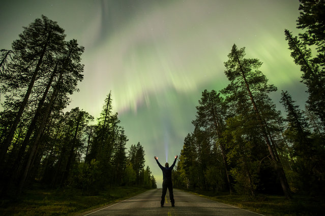 The Aurora Borealis (Northern Lights) lights up the sky near the village of Pallas (Muonio region) of Lapland, Finland September 8, 2017. (Photo by Alexander Kuznetsov/Reuters/All About Lapland)