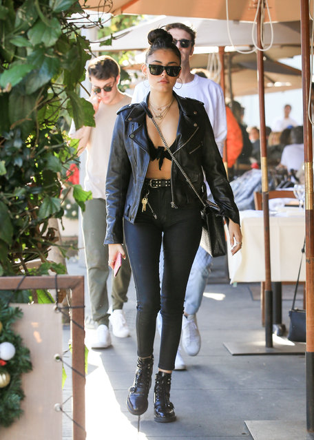 Madison Beer spotted out and about in Los Angeles on December 28, 2017. (Photo by Bauergriffin.com)