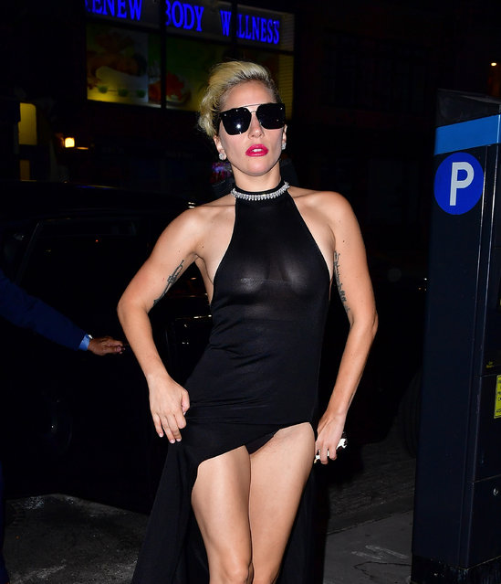 Lady Gaga arrives to Electric Lady Studios on September 15, 2016 in New York City. (Photo by James Devaney/GC Images)
