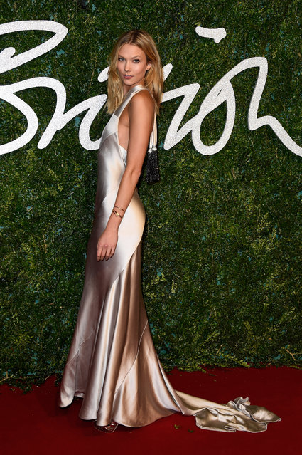 Karlie Kloss attends the British Fashion Awards at London Coliseum on December 1, 2014 in London, England. (Photo by Pascal Le Segretain/Getty Images)
