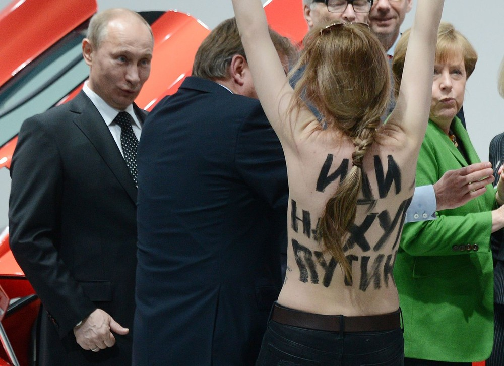 Putin Gets Flashed in Germany