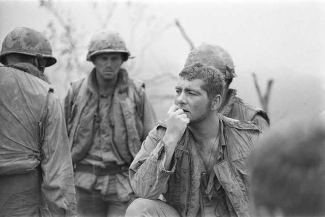 American troops on Hill Timothy during an action against the Viet Cong, Vietnam War, April 1968. (Photo by Terry Fincher/Daily Express/Hulton Archive/Getty Images)