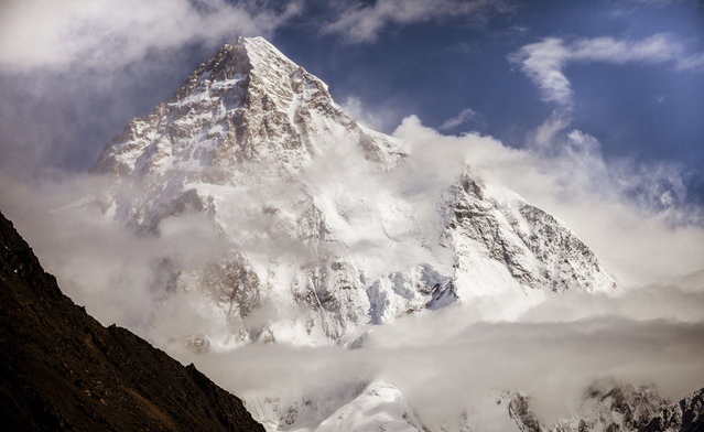 K2 is the second highest mountain in the world at 8,611 metres above sea level. (Photo by David Kaszlikowski/Rex Features)