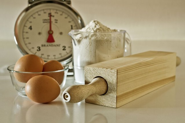 A squared rolling pin. (Photo by Giuseppe Colarusso/Caters News)