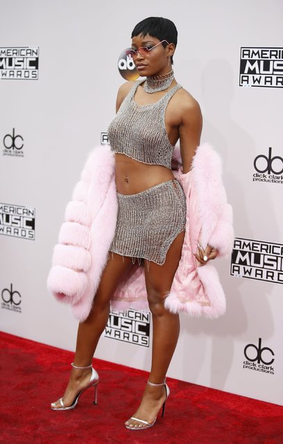 Actress Keke Palmer arrives at the 2016 American Music Awards in Los Angeles, California, U.S., November 20, 2016. (Photo by Danny Moloshok/Reuters)