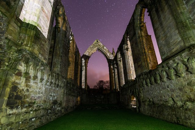 Bolton Abbey under stars on February 10, 2016. (Photo by Dave Zdanowicz/Rex Features/Shutterstock)