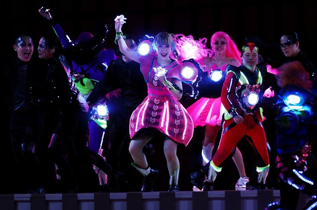 Entertainers perform during the opening ceremony of the Tokyo 2020 Paralympic Games at the Olympic Stadium on August 24, 2021 in Tokyo, Japan. (Photo by Lisi Niesner/Reuters)